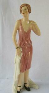 Art Deco Goebel Porcelain FLAPPER ROARING 20s 1920 Fashion Lady Vintage Germany