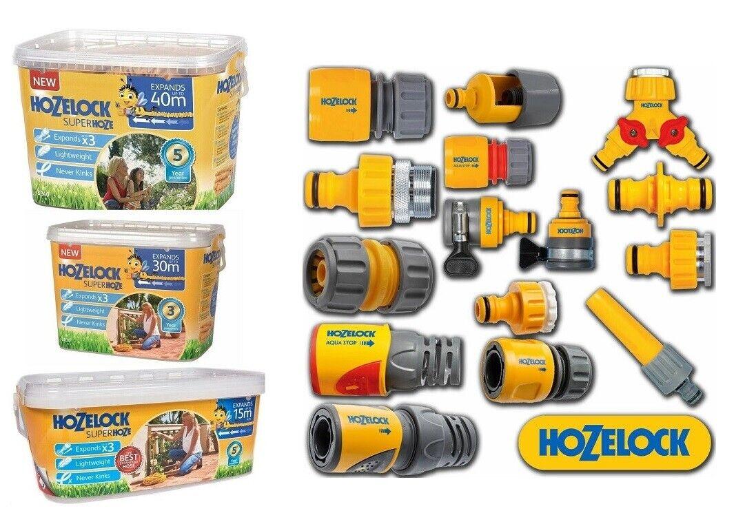 Hozelock Quality Garden Expandable Hose Pipe Spray Gun Nozzle Connector Fittings