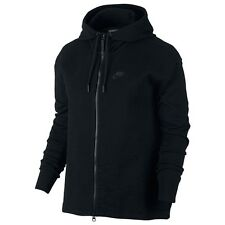 Women's Nike Tech Knit Jacket Hoodie Black Uk Size Small 835641-010