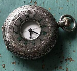 Antique-Omega-Half-Hunter-Sterling-Silver-Working-Pocket-Watch-Stewart-Limerick
