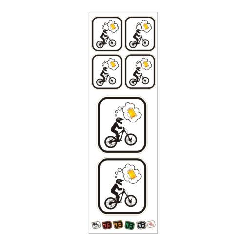 """/""""Biker thinking about Beer/"""" #BIKEPORN # BIKEPORN MTB DH Freeride Enduro Sticker"""