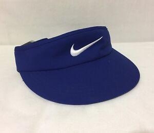 NWT Nike Golf Tall Adjustable Visor Deep Royal Blue White 832693-455 ... 39f71cba75e