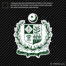 Pakistani Emblem Sticker Decal Self Adhesive Vinyl Pakistan flag PAK PK