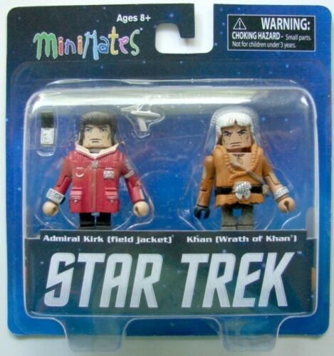 y Khan Minimates-DIAMOND SELECT TOYS campo Chaqueta Star Trek Almirante Kirk