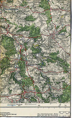 Flöha Augustusburg Zschopau 1929 Teilkarte/ln. Frankenberg Oederan Leubsdorf