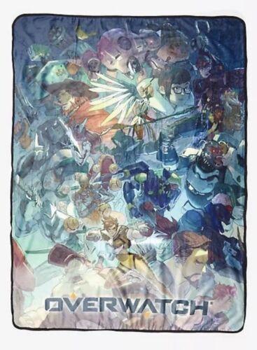 """Overwatch Group Heroes Blue Fade Super Soft Fleece Throw Blanket 45/""""x60/"""""""