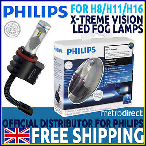 philips x treme vision led fog lamp x2 replacement of h8. Black Bedroom Furniture Sets. Home Design Ideas