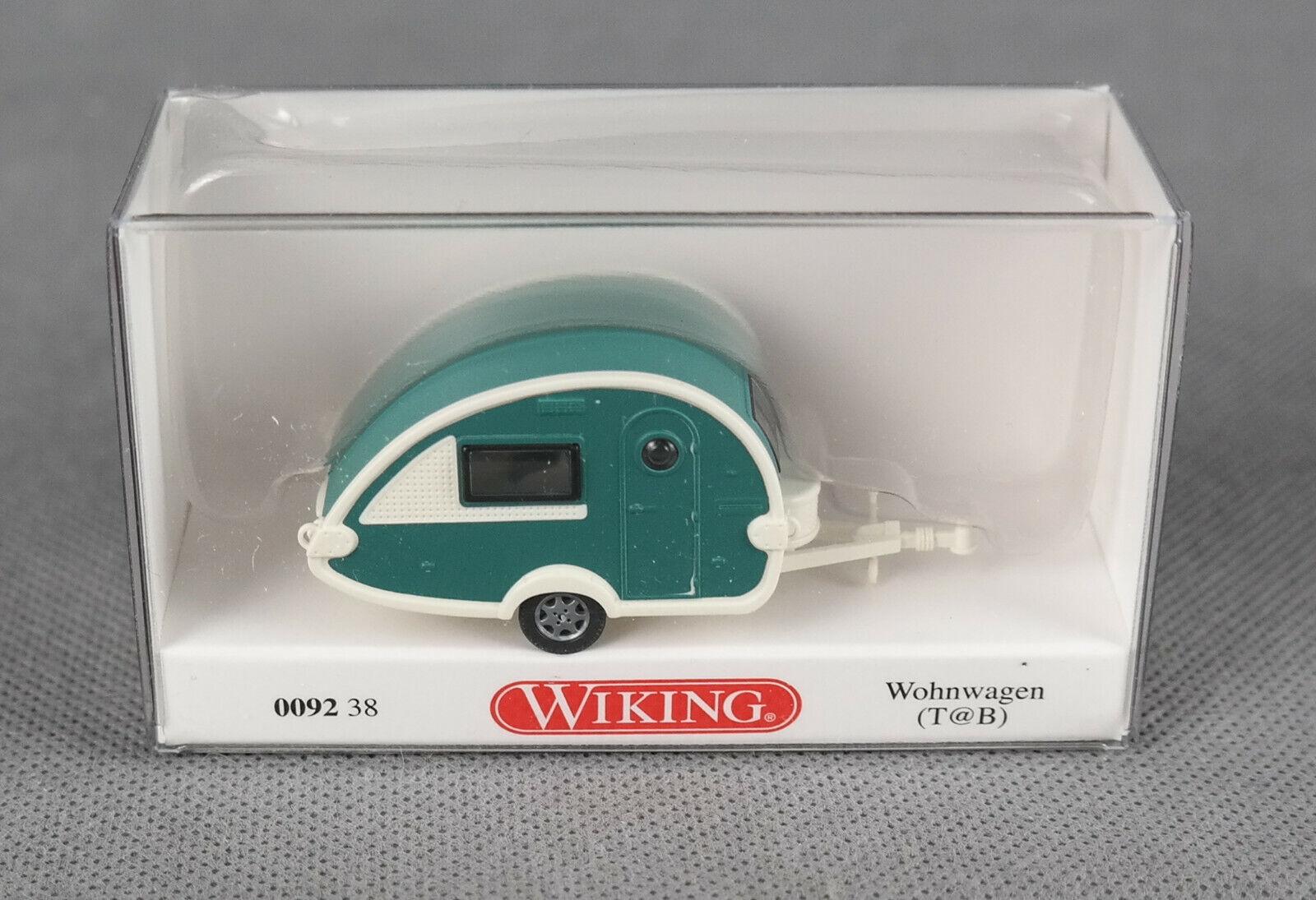 verde blanco 0092 38 t@b 1//87 Wiking caravanas