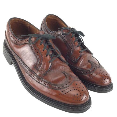 ba4df0d6b9e9 7 of 12 JC PENNY Shoe Classic Brown Leather Wingtip Brogue Oxford Mens 7.5  D Shoes R8S3