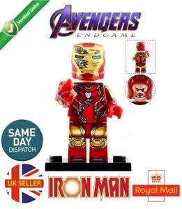Avengers Iron Man Mini Figure MK Silver Black Marvel End Game UK Seller