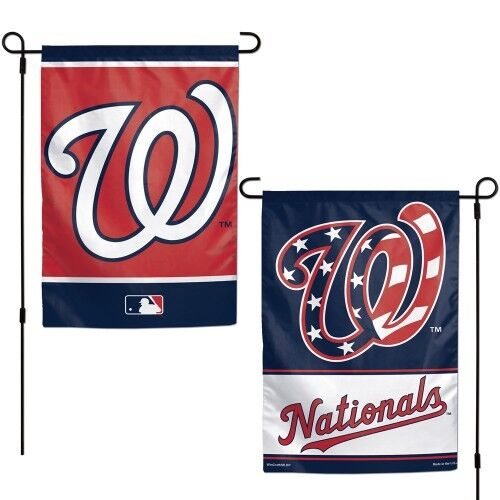 "WASHINGTON NATIONALS DOUBLE SIDED 12/""X18/"" GARDEN FLAG BANNER NEW"