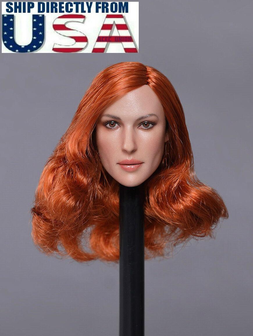 1 6 American Female Head Sculpt GC020 D For 12  PHICEN Hot Toys Figure U.S.A.