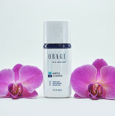 Obagi Nu-Derm Gentle Cleanser Face Wash - Travel Size: 2oz/60mL - FAST SHIPPING
