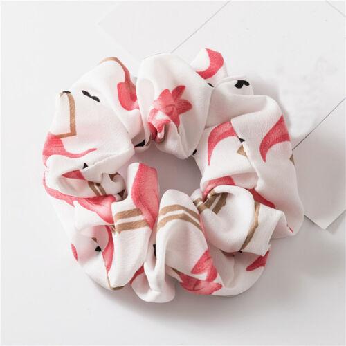 Girls Flamingo Fashion Elastic Hair Tie Band Ring Rope Ponytail Holder Scrunchie