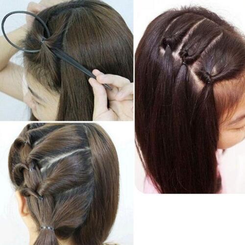 Ponytail Creator Plastic Loop Styling Tools Black Topsy Pony Tail Hair Braid OL