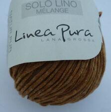 05 Leinen//Zimt//Schwarz 11,90€//100g Lana Grossa Linea Pura Collino 50g  Fb