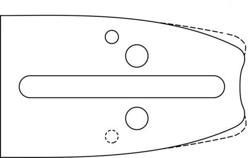 "Espada 38cm 2 cadenas 0.325/"" 64 trgl Oregon Husqvarna motosierra 1,5 Nut halbm"