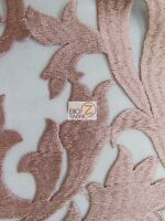 Flaming Cocktail Evening Dress Lace Fabric - Dusty Rose - By Yard Bridal Decor