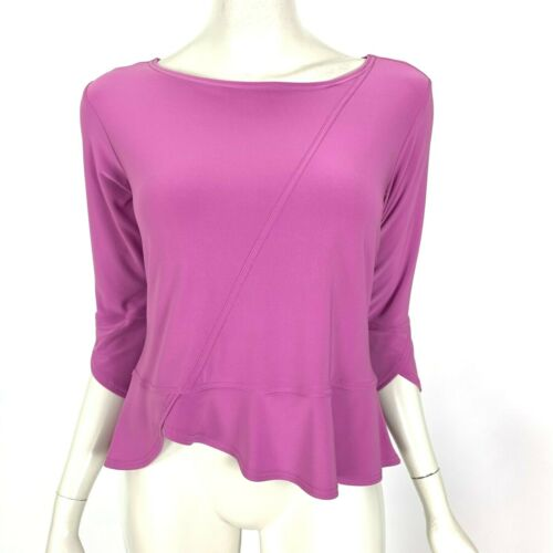 Sympli Canada Lilac Blouse Top 3/4 Sleeve Scoop N… - image 1
