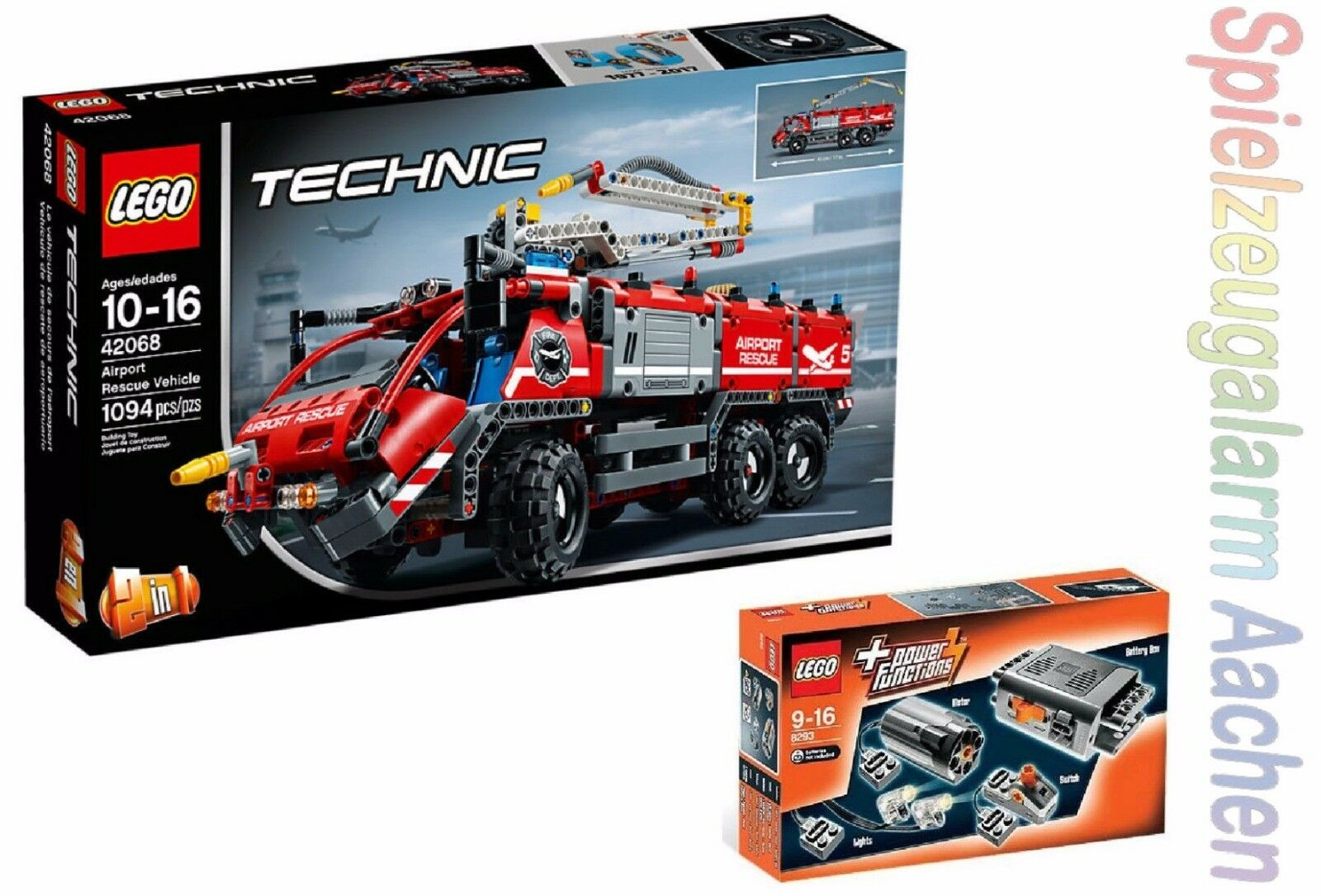 LEGO TECHNIK 42068 + 8293 Flughafen Löschfahrzeug + LED LED LED Power Functions N8 17 6a7c54