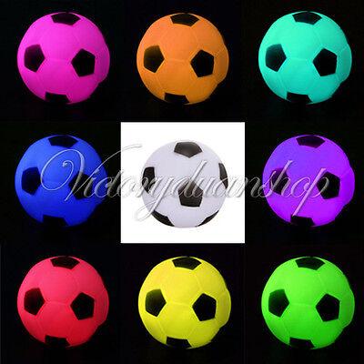 10x LED Fußball Kerze Lampe Football Leuchte Nachtlicht Party Deko 7 Farbwechsel