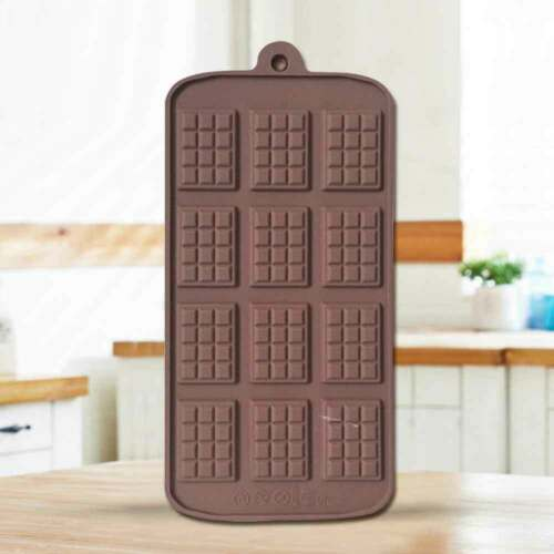 12 Cavities Chocolate Baking Mold Silicone Cake Candy Cookies Decorating Mould