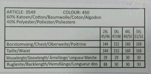 henderson GCM Kurzarm Hemd Gr 4XL 49//50 Kentkragen  Weiß mit Muster