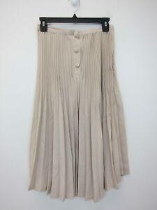 Nasty-Gal-Women-039-s-Pleats-Please-Midi-Skirt-US-2-Stone-NWT