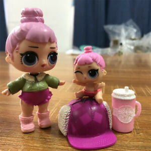 with bag LOL Surprise LiL Sisters L.O.L pink baby doll SERIES 2 Doll Toy Gift