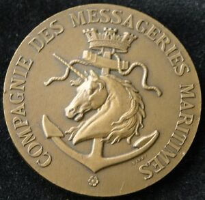 Messageries Maritimes 75th Anniversary Bronze Medal 1927