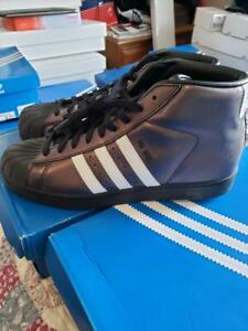 Details about ADIDAS PRO MODEL ORIGINALS Mens Shoes Size 10 BLACK WHITE Leather BRAND NEW!