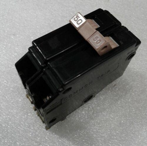 "CH250 Cutler-Hammer Circuit Breaker 2 Pole 50 Amp 240V /""2 YEAR WARRANTY/"""