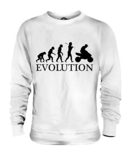 Abbigliamento Maglione Unisex Donna Uomo Evoluzione Quad Umana Regalo Moto  7TySawzc 4955a163a9a2
