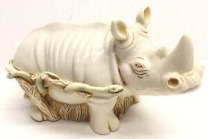 Vintage Retired Harmony Kingdom Horn A' Plenty Rhino Box Large Treasure Jest SAC