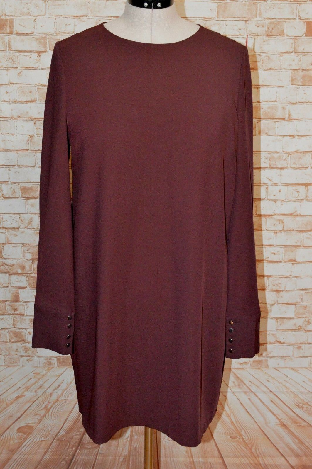 A723 WITCHERY BERRY RED SHIFT DRESS SIZE 14 W17 NEW