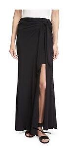 76e4fa5f82 Bella Tie-Waist Maxi Skirt, Black ella moss medium Black Skirt NWT ...