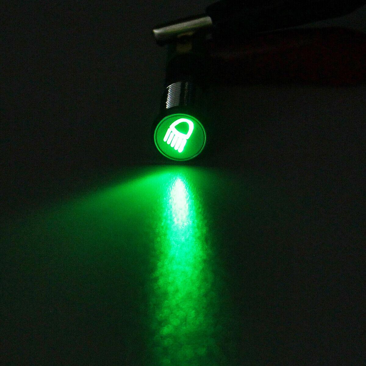 12V Green Illuminated Rectangular Warning Indicator Light Car Dash K453 ROBINSON