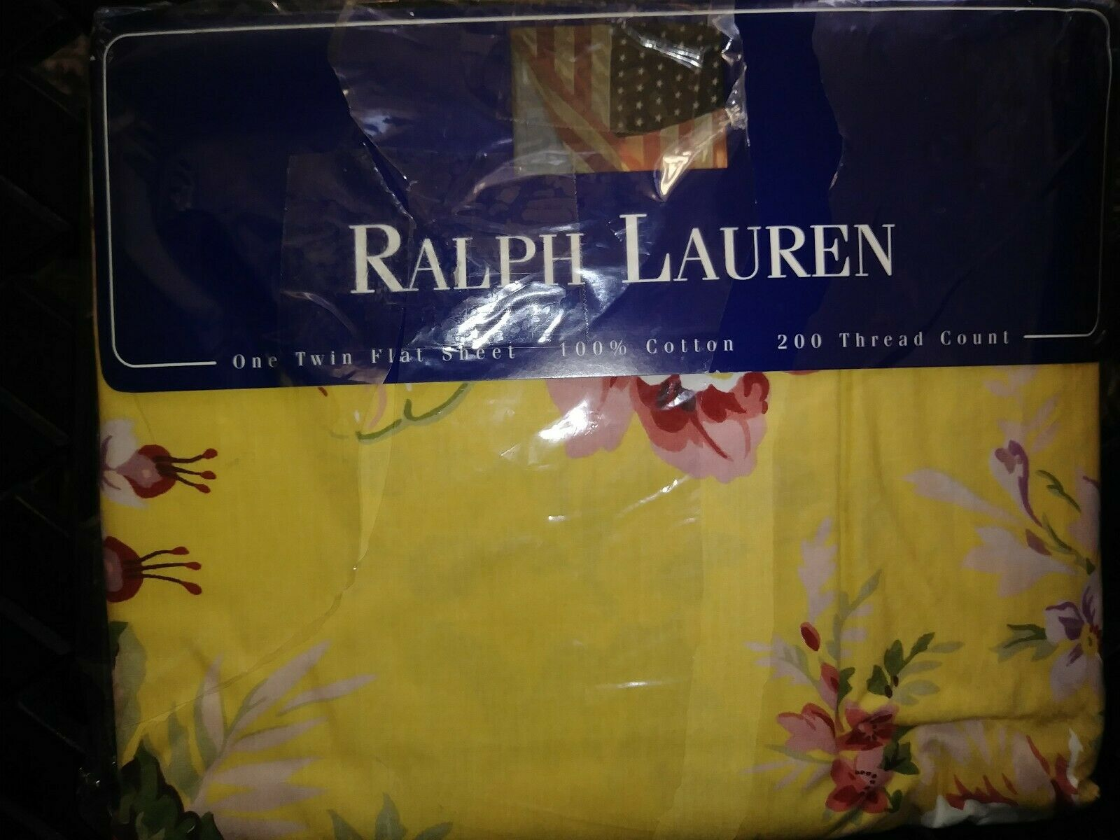 NOS Ralph Lauren  Brooke  Country Cottage Style Flat Sheet
