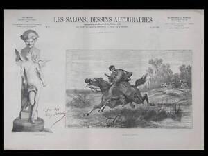 Contemplatif Les Salons, Dessins Autographes 1868 - Camille Corot, Hugard, Sanzel, Regamey
