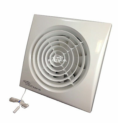 Envirovent SILENT-150P Extractor Fan with Pull Cord for 6 ...