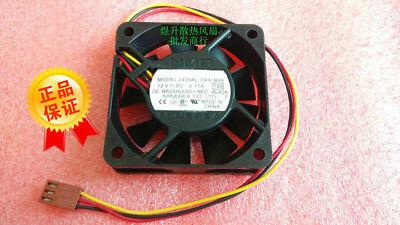For 1pcs NMB 2406KL-04W-B49 Fan 12V 0.17A 60*60*15MM