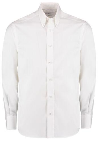 Kustom Kit Men/'s Long Sleeve Tailored Fit Premium Oxford Shirt KK188