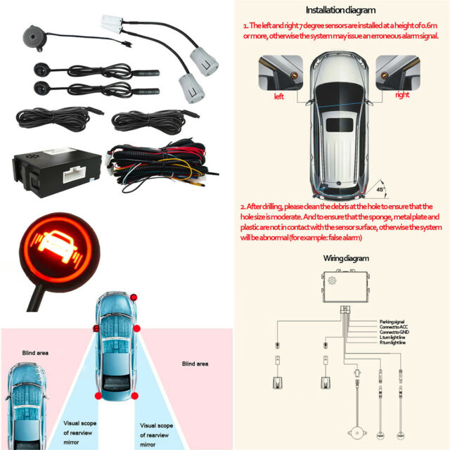 BSD Lane Change Assistant Auto Safety Monitoring Assistants 3 in 1 STEELMATE Universal Ultrasonic Car Blind Spot Detection System Rear Cross Traffic Assistant LCA RCTA
