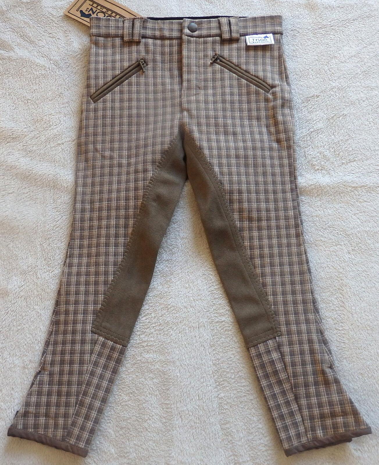 Tyson Kinder Reithose , Vollbesatz, brown karo  Gr.116 (5957)