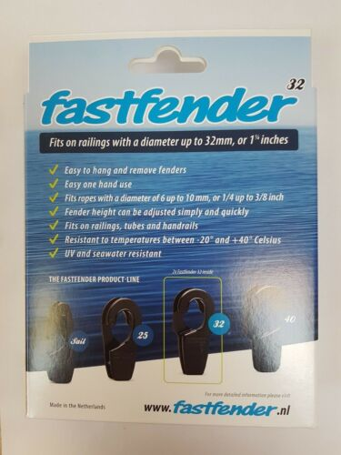 Fastfender 32 Grey Fender Clip 32mm Rail Fast Fender Removable Hook White FF32GY