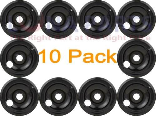 """10 Pack GE 8/"""" Black Burner Drip Bowl WB31T10015 WB32X5085 WB32T10003"""