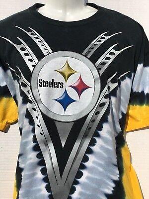 NFL Team Apparel PITTSBURGH STEELERS Tie-Dye 2 sided T-Shirt sz XL ... 908766f4b