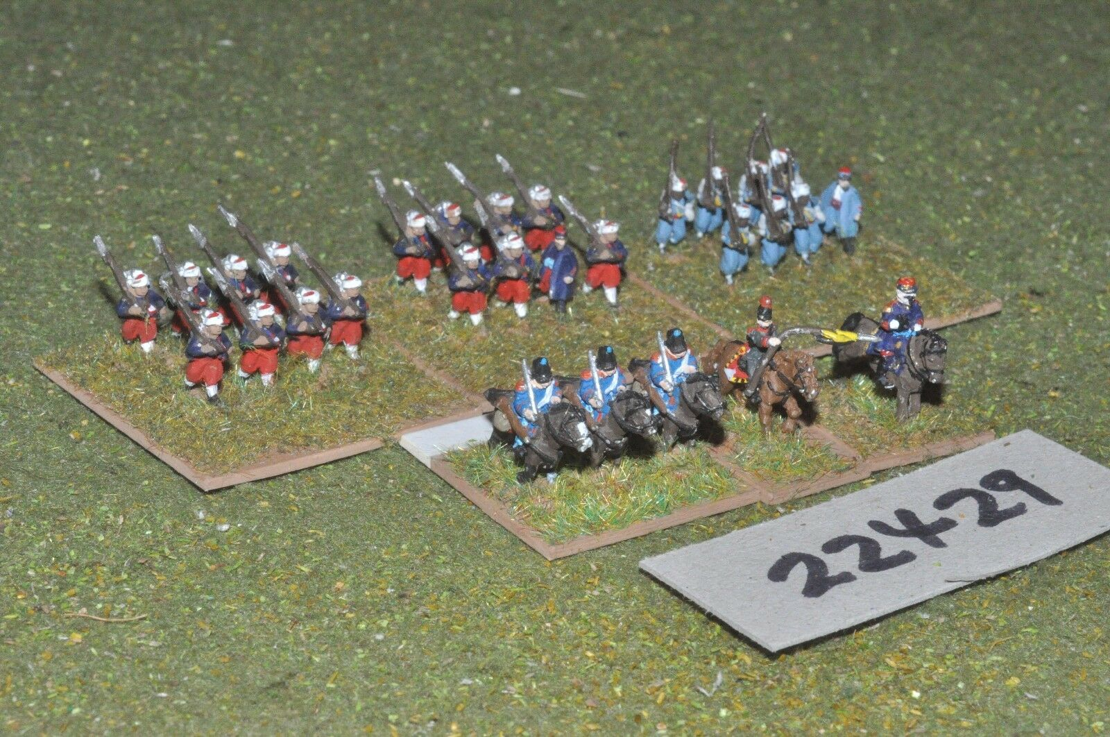 10mm 19th century   french - french battlegroup 28 figs inf - inf (22429)