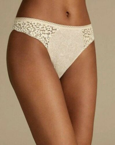 NEW SIZE 22 HIGH LEG KNICKERS ALMOND PAISLEY PRINT LACE MARKS /& SPENCER COOL COM
