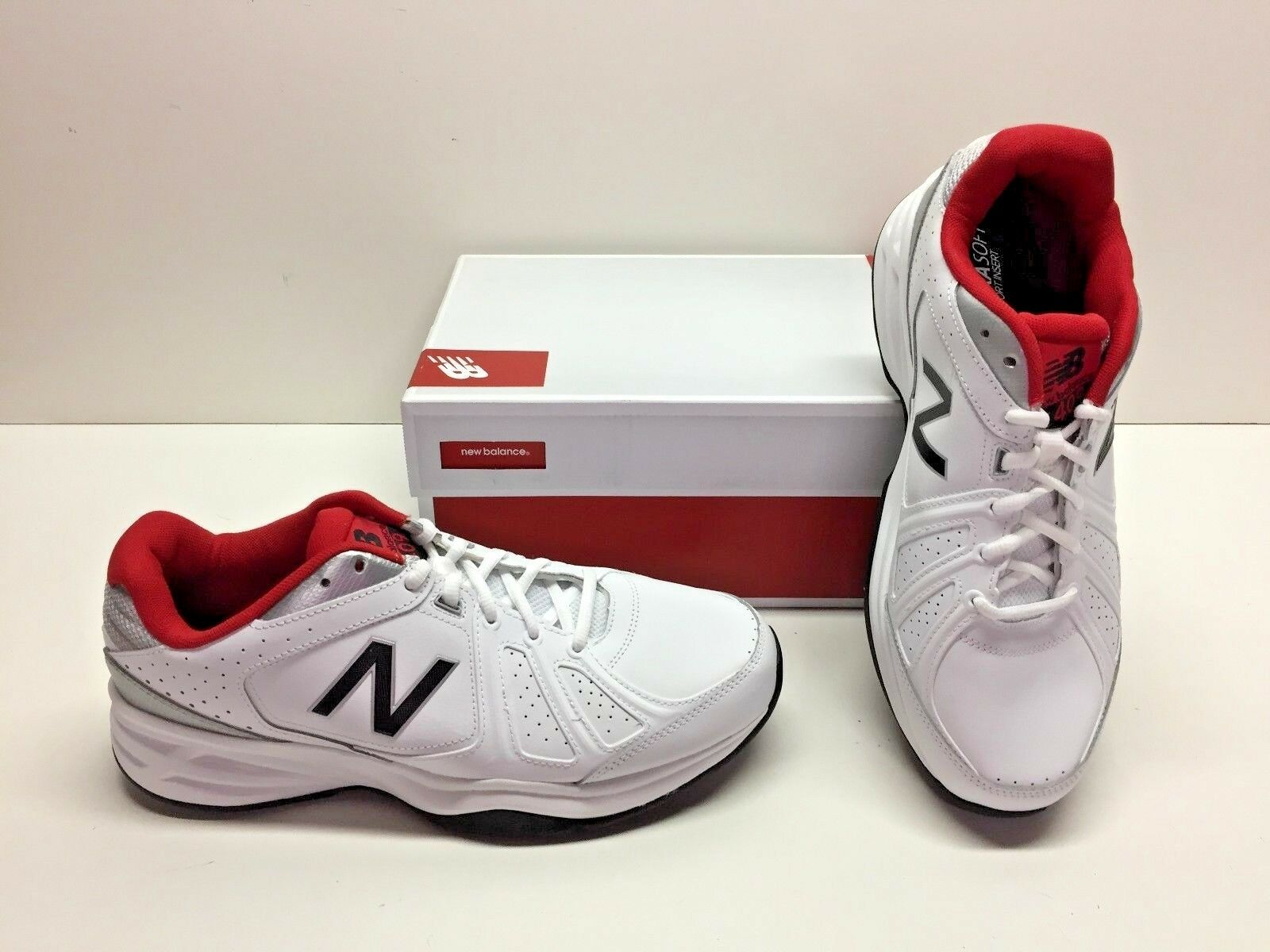 New Balance 409v3 White Running Cross Training Sneakers shoes Mens 10 4E X-Wide